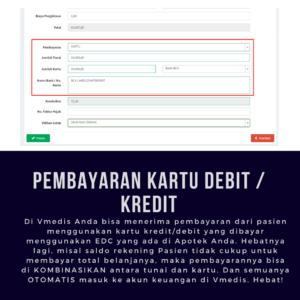 Aplikasi Apotek Vmedis - Pembayaran Kartu