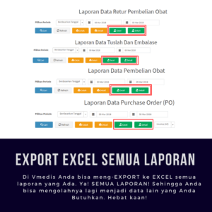 Software Apotek Vmedis - Export Excel
