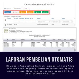Software Apotek Vmedis - Laporan Pembelian Obat