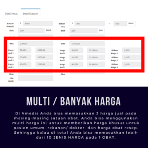 Software Apotek Vmedis - Multi Harga