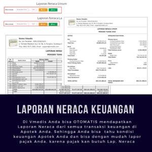 Software Apotek Vmedis - Laporan Neraca Keuangan